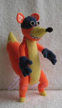 ... Hračky háčkované a pletené - háčkovaný lišák Žulik - 01.jpg